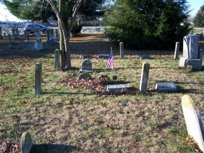 Larger view of Sgt. John B. Maberry gravesite. image. Click for full size.