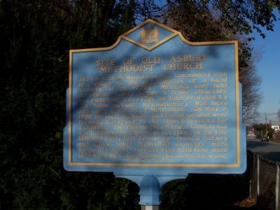 Site of Old Asbury Methodist Church Marker image. Click for full size.