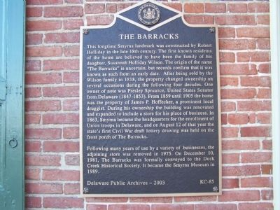 The Barracks Marker image. Click for full size.