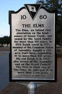The Elms Marker - Side A image. Click for full size.