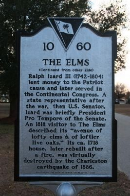 The Elms Marker - Side B image. Click for full size.