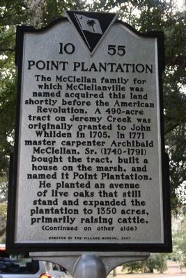 Point Plantation Marker - Side A image. Click for full size.
