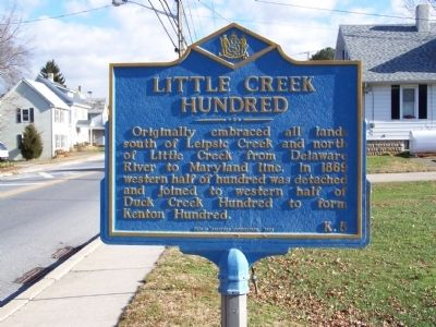 Little Creek Hundred Marker image. Click for full size.