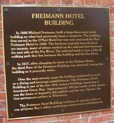 Freimann Hotel Building Marker image. Click for full size.