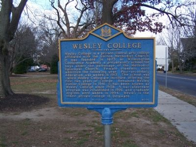 Wesley College Marker image. Click for full size.