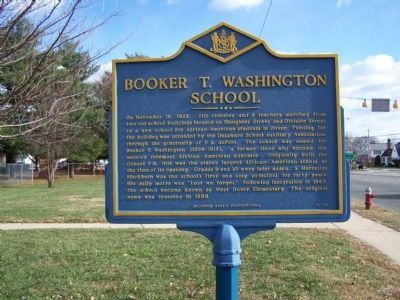 Booker T. Washington School Marker image. Click for full size.
