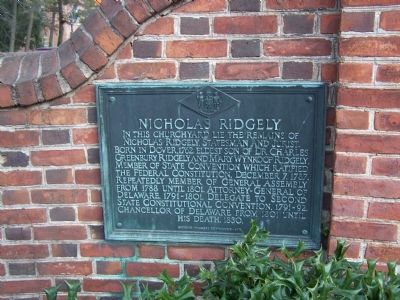Nicholas Ridgely Marker image. Click for full size.