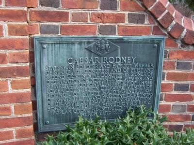 Caesar Rodney Marker Photo, Click for full size