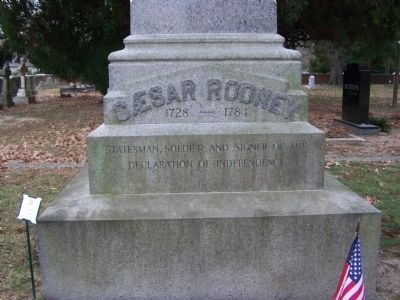 Caesar Rodney Grave engraving Photo, Click for full size