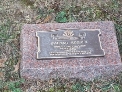 Caesar Rodney Plaque Photo, Click for full size