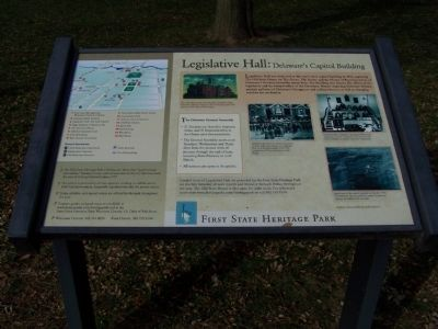 Legislative Hall - Delaware's Capitol Building Marker Photo, Click for full size