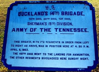 Buckland's Brigade Marker image. Click for full size.