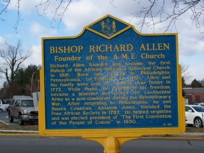 Bishop Richard Allen Marker Photo, Click for full size