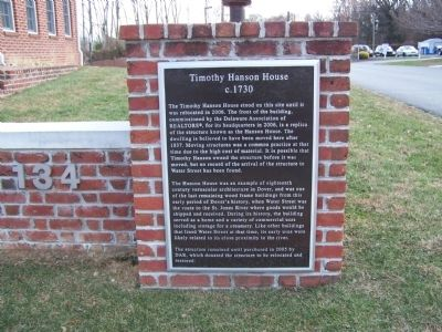 Timothy Hanson House Marker image. Click for full size.