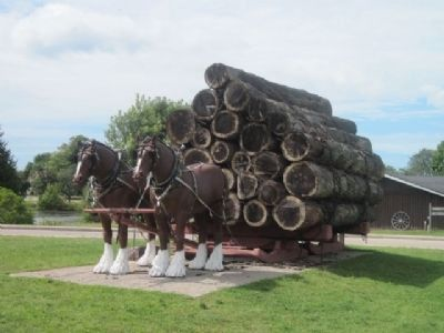 Hauling Logs image. Click for full size.