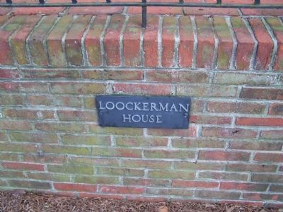 Loockerman House Name Plaque Photo, Click for full size