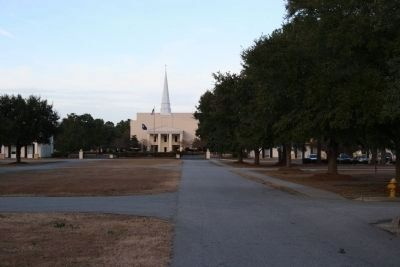View of Lightsey Chapel from Marker image. Click for full size.