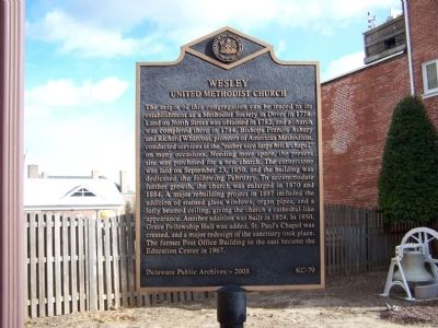 Wesley United Methodist Church Marker Photo, Click for full size