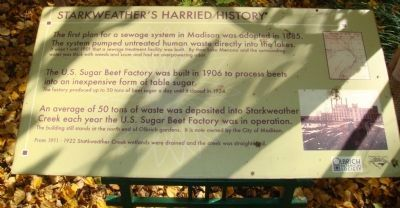 Starkweather's Harried History Marker image. Click for full size.