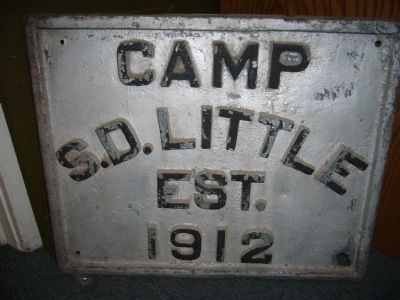 Plaque for Camp Stephen D. Little image. Click for full size.