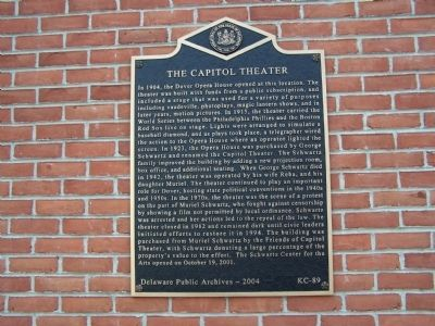 The Capitol Theater Marker image. Click for full size.