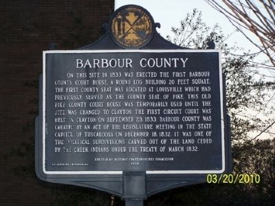 Barbour County Marker image. Click for full size.