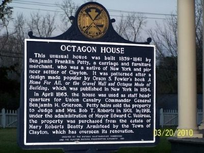 Octagon House Marker Photo, Click for full size
