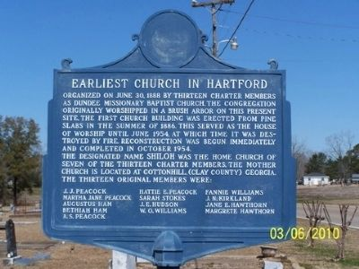 Earliest Church In Hartford Marker image. Click for full size.