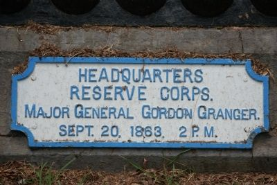 Headquarters Reserve Corps. Marker Photo, Click for full size