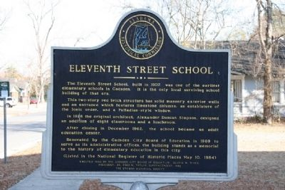 Eleventh Street School Marker image. Click for full size.