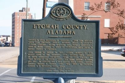 Etowah County, Alabama Marker image. Click for full size.