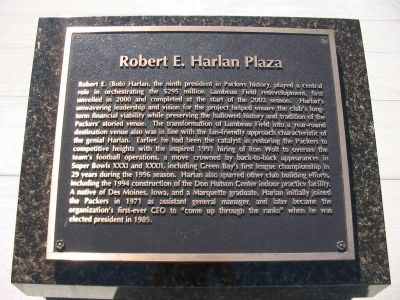 Robert E. Harlan Plaza Marker image. Click for full size.