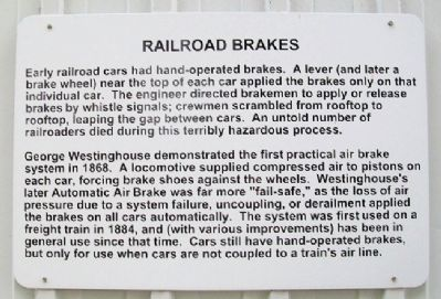 Railroad Brakes Marker image. Click for full size.
