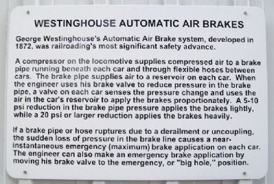 Westinghouse Automatic Air Brakes Marker image. Click for full size.