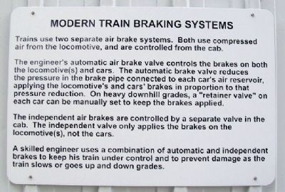 Modern Train Braking Systems Marker image. Click for full size.