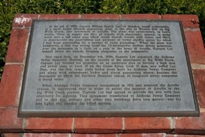 Electricity for the City of Attalla Marker image. Click for full size.