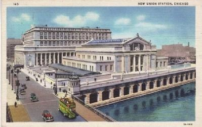 Chicago's Union Station Postcard image. Click for full size.