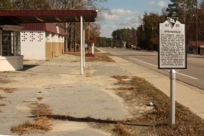 Springdale Marker, looking east along Platt Springs Road image. Click for full size.