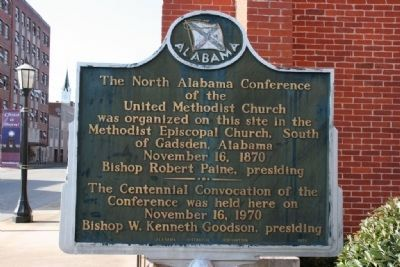 The North Alabama Conference of the United Methodist Church Marker image. Click for full size.