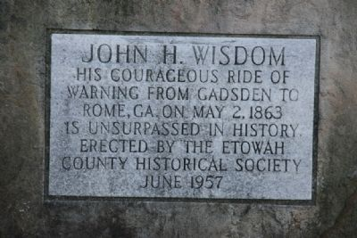 John H. Wisdom Marker Photo, Click for full size