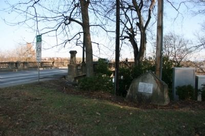 Broad Street Bridge and the John H. Wisdom Marker Photo, Click for full size