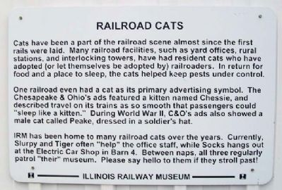 Railroad Cats Marker image. Click for full size.