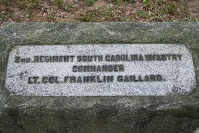 2nd Regiment South Carolina Infantry Marker Photo, Click for full size