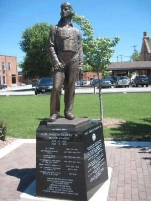 James H. Flatley Marker and Statue image. Click for full size.