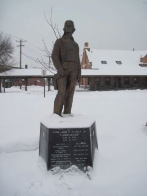 Vadm James H. Flatley Jr. Marker and Statue image. Click for full size.