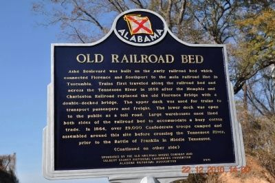 Old Railroad Bed Marker - Side A image. Click for full size.