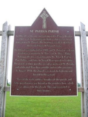 St. Patrick Parish Marker image. Click for full size.