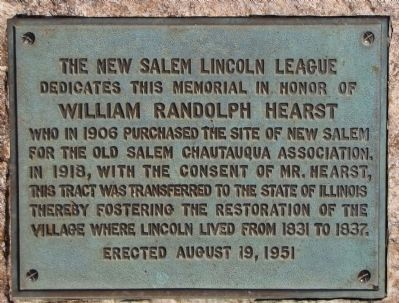 The New Salem Lincoln League Marker image. Click for full size.