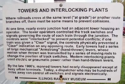 Towers and Interlocking Plants Marker image. Click for full size.