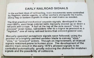 Early Railroad Signals Marker image. Click for full size.